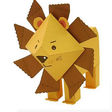 Puzzle 3D Modelul de hârtie Lucru Manual Din Hârtie Μοντέλα και κιτ δόμησης Leu Animale Reparații Clasic Desen animat Pentru copii Unisex