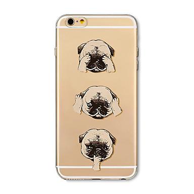 hoesje Voor Apple iPhone X iPhone 8 Plus Transparant Patroon Achterkantje Hond Cartoon Zacht TPU voor iPhone X iPhone 7s Plus iPhone 8