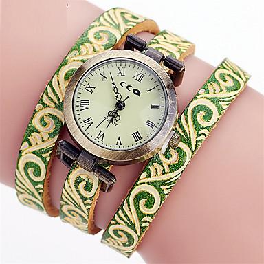 Dames Armbandhorloge Unieke creatieve horloge Vrijetijdshorloge Chinees Kwarts Leer Band Bedeltjes Vrijetijdsschoenen Elegante horloges
