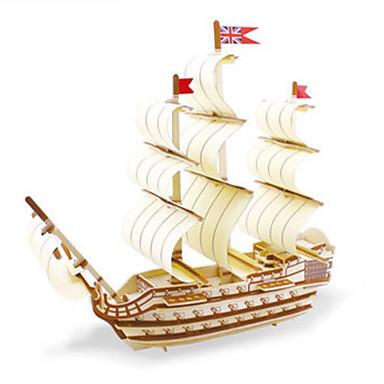 Robotime 3D - Puzzle Holzpuzzle Holzmodelle Modellbausätze Kriegsschiff Schiff 3D Heimwerken Holz Klassisch Unisex Geschenk