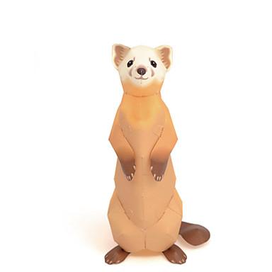 قطع تركيب3D نموذج الورق أشغال الورق مجموعات البناء دب الحيوانات محاكاة اصنع بنفسك ورق صلب كلاسيكي للأطفال للجنسين هدية