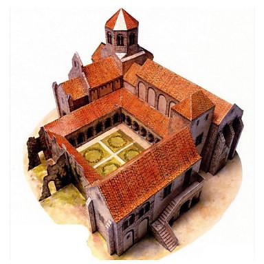 Puzzle 3D Modelul de hârtie Jucarii Pătrat Clădire celebru Arhitectură 3D Reparații Hârtie Rigidă pentru Felicitări Ne Specificat Bucăți
