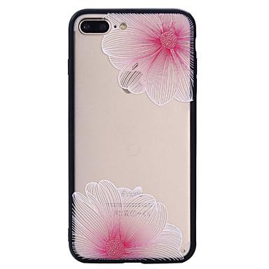Pentru Apple iphone 7plus 7 telefon caz Combo roz model de flori pictate vopsea reliefat telefon scrubs caz 6s plus 6plus 6s 6 se 5s 5