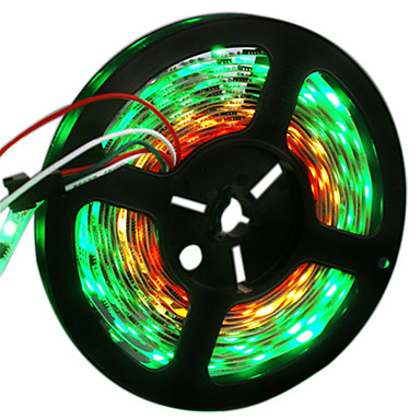 HKV شرائط قابلة للانثناء لأضواء LED 300 المصابيح RGB قابل للقص لون التغير اللصق التلقي DC 12V