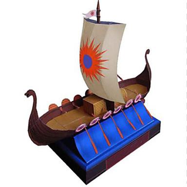 Puzzle 3D Pătrat Navă Reparații Hârtie Rigidă pentru Felicitări Pirat Unisex Cadou