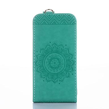 غطاء من أجل Samsung Galaxy حامل البطاقات مع حامل قلب مطرز غطاء كامل للجسم لون الصلبة زهور قاسي جلد PU إلى S6 edge S6 S5 S4 S3
