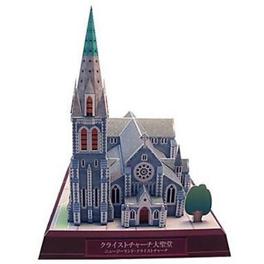 قطع تركيب3D نموذج الورق مجموعات البناء مربع بناء مشهور Church معمارية اصنع بنفسك ورق صلب كلاسيكي صبيان للجنسين هدية
