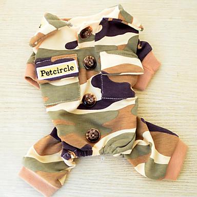 Hond Sweatshirt Jumpsuits Hondenkleding Politie/militair Katoen Dons Kostuum Voor huisdieren Heren Dames Casual/Dagelijks
