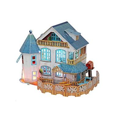 دمى قطع تركيب3D تركيب بيت اللعبة نموذج الورق ألعاب مربع بناء مشهور معمارية 3D خشبي فتيات قطع