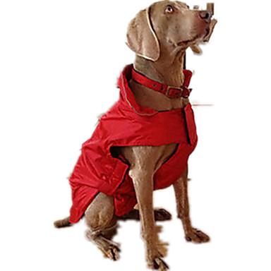 كلب سترة جاكيتات ريش ملابس الكلاب سادة فوشيا أحمر أزرق قطن بطانة فرو تيريليني كوستيوم للحيوانات الأليفة كاجوال/يومي