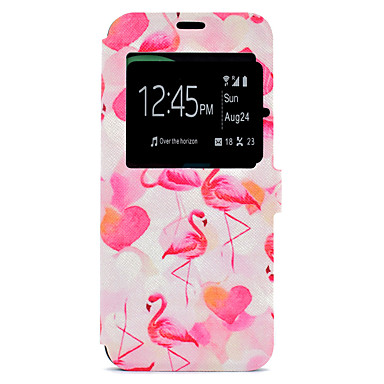 hoesje Voor Samsung Galaxy S8 Plus S8 Kaarthouder met standaard Patroon Volledige behuizing Flamingo Hard PU-leer voor S8 S8 Plus S7 edge