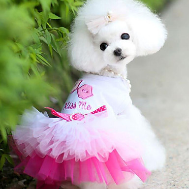 Câine Rochii Îmbrăcăminte Câini Prințesă Albastru Roz Șifon Bumbac Costume Pentru animale de companie Bărbați Pentru femei Casul/Zilnic
