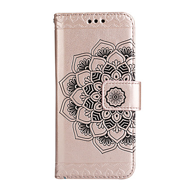 غطاء من أجل Samsung Galaxy A5(2017) A3(2017) حامل البطاقات محفظة مع حامل قلب غطاء كامل للجسم زهور قاسي جلد PU إلى A3 (2017) A5 (2017) A7