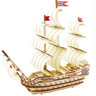 Puzzle 3D Puzzle Modele de Lemn Navă Militară Navă 3D Reparații Lemn Lemn natural Unisex Cadou