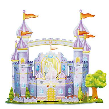 3D - Puzzle Holzpuzzle Modellbausätze Burg Berühmte Gebäude Architektur Heimwerken Kartonpapier Klassisch Zeichentrick Kinder Unisex