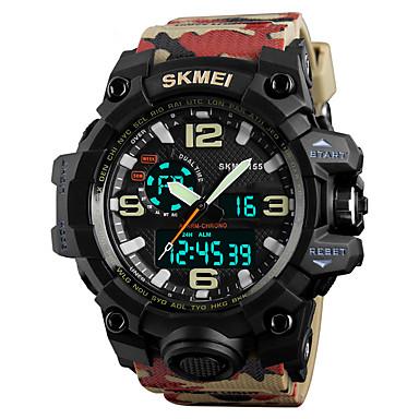 levne Pánské-SKMEI Pánské Sportovní hodinky Vojenské hodinky Náramkové hodinky japonština Křemenný Z umělé kůže 50 m Voděodolné Alarm Kalendář Analog - Digitál Módní - Camouflage Brown Dva roky Životnost baterie