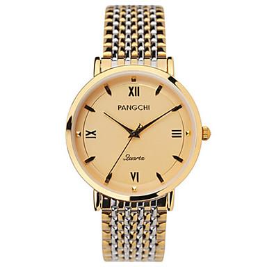 للرجال ساعة فستان ساعات فاشن كوارتز مقاوم للماء أشابة فرقة فضة ذهبي