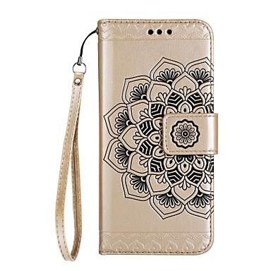 غطاء من أجل هواوي P9 لايت Huawei هواوي P8 لايت حامل البطاقات محفظة مع حامل قلب مغناطيس نموذج مطرز غطاء كامل للجسم ماندالا نمط قاسي جلد PU