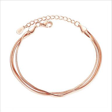 Dames Sterling zilver Armbanden met ketting en sluiting - Vriendschap Movie Jewelry Modieus Cirkelvorm Goud Zilver Armbanden Voor