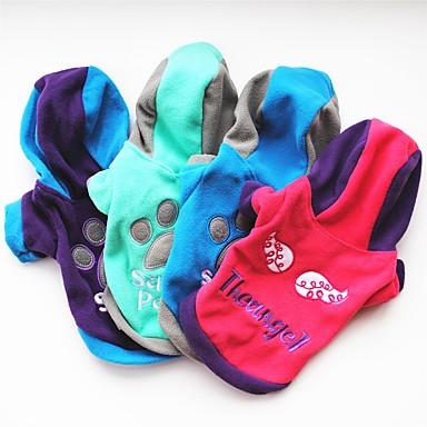 قط كلب المعاطف T-skjorte كنزة هوديس ملابس الكلاب حرف وعدد أرجواني وردي أخضر أزرق القطبية ابتزاز كوستيوم للحيوانات الأليفة للمرأة حفلة