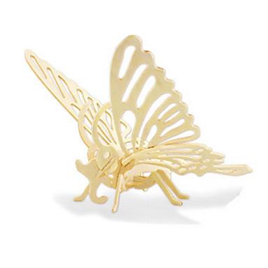 قطع تركيب3D تركيب النماذج الخشبية ديناصور طيارة حيوان فراشة 3D اصنع بنفسك خشبي خشب كلاسيكي 6 سنوات فما فوق