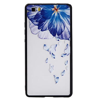 Caz pentru huawei p8 lite p9 litiu caz acoperi floare model tpu plus combo combo material scutire telefon caz