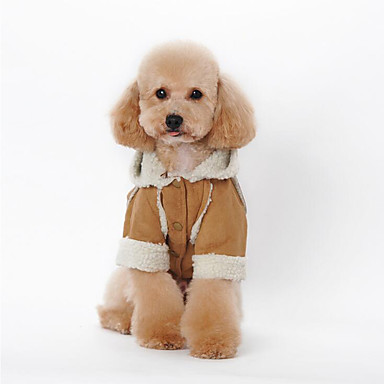 Hund Kapuzenshirts Hundekleidung Britisch Kaffee Braun Rot Blau Rosa Baumwolle Daune Kostüm Für Haustiere Herrn Damen Lässig/Alltäglich