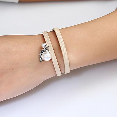 Dames Armbanden met ketting en sluiting Lederen armbanden Wikkelarmbanden Bohémien Hip-hop Modieus Gothic Ijzerlegering Metaal