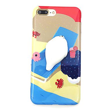 من أجل أغط / كفرات نموذج اصنع بنفسك اسفنجي غطاء خلفي غطاء كارتون ناعم TPU إلى Apple فون 7 زائد فون 7 iPhone 6 Plus iPhone 6s أيفون 6