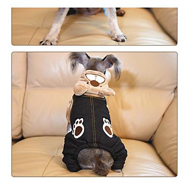 Hund Kapuzenshirts Hundekleidung Lässig/Alltäglich Tier Grau Braun Khaki
