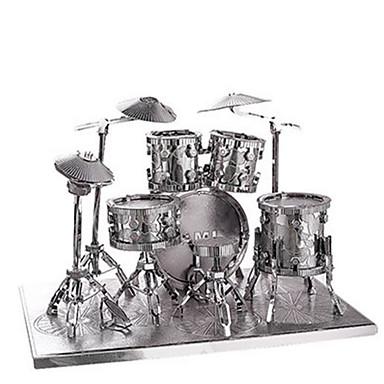 Puzzle 3D Puzzle Puzzle Metal Jucarii Altele Set de tobe 3D Jazz Drum Reparații Articole de mobilier Aluminiu MetalPistol Ne Specificat