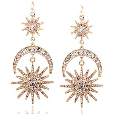 Damen Tropfen-Ohrringe Ohrringe baumeln Strass Personalisiert Religiöser Schmuck Luxus Geometrisch Einzigartiges Design Anhänger Stil
