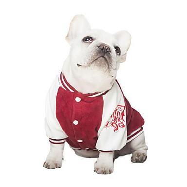 Hund Pullover Hundekleidung Lässig/Alltäglich Buchstabe & Nummer Dunkelblau Rot