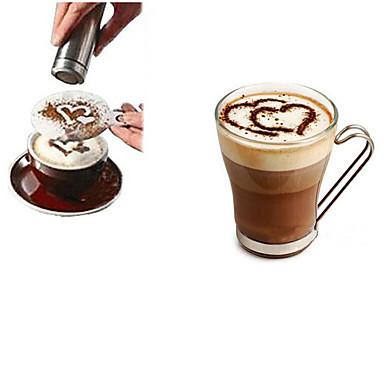 1pc Rustfritt Stål kaffe Stencil Manuell ,