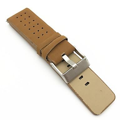 PU-Leder Uhrenarmband Gurt Braun 213 2cm / 0.8 Inch