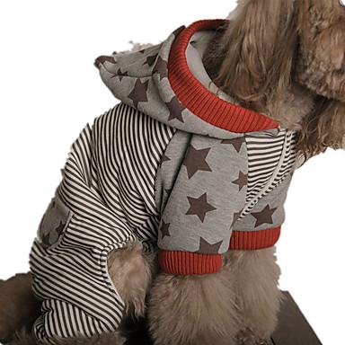 Câine Hanorace cu Glugă Îmbrăcăminte Câini Casul/Zilnic Dungi Rosu