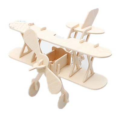 قطع تركيب3D تركيب النماذج الخشبية طيارة المقاتل بناء مشهور معمارية 3D اصنع بنفسك خشب كلاسيكي 6 سنوات فما فوق