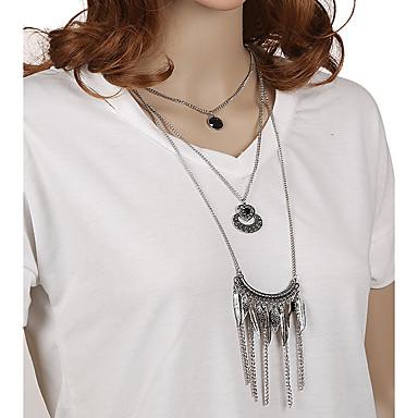 Pentru femei Formă Stil Atârnat Pandantiv Ciucure Vintage Boem Confecționat Manual Euramerican Coliere cu Pandativ Coliere Metalic Aliaj