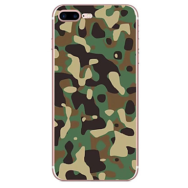 Hülle Für Apple Muster Rückseitenabdeckung Tarnfarben Weich TPU für iPhone 7 plus iPhone 7 iPhone 6s Plus iPhone 6 Plus iPhone 6s iPhone 6