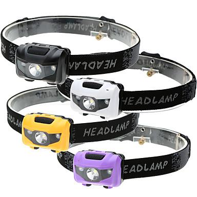 levne Čelovky-Čelovky LED LED Vysílače 500 lm 4.0 Režim osvětlení Voděodolné 3 režimy LED světlo Kempování a turistika Každodenní použití Cyklistika Černá Fialová Žlutá