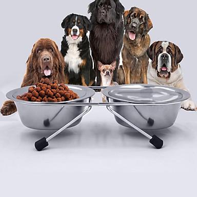 قط كلب الطاسات وزجاجات حيوانات أليفة السلطانيات والتغذية مقاوم للماء قابل للسحبقابل للتعديل المحمول مزدوج قابلة للطى مضاعف لون عشوائي