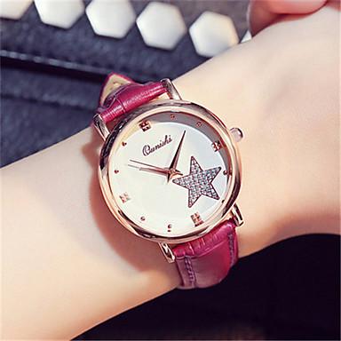 Dames Modieus horloge Polshorloge Kwarts Leer Band Rood Bruin Roze Paars