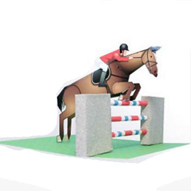 3D-puzzels Bouwplaat Papierkunst Modelbouwsets Vierkant Paard 3D DHZ Hard Kaart Paper Klassiek Unisex Geschenk