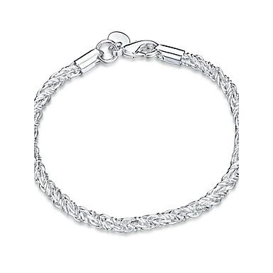 للمرأة فتيات أساور السلسلة والوصلة كريستال الصداقة موضة أسلوب بانك Rock تصفيح بطلاء الفضة Geometric Shape مجوهرات من أجل زفاف حزب مناسبة