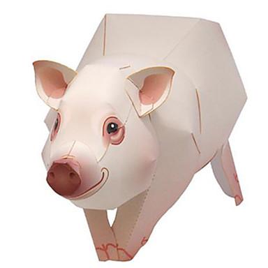 3D - Puzzle Papiermodel Schwein Tiere Heimwerken Hartkartonpapier Kinder Unisex Geschenk
