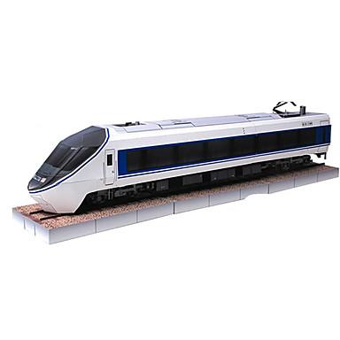 Puzzle 3D Lucru Manual Din Hârtie Tren Simulare Reparații Fier Hârtie Rigidă pentru Felicitări Clasic Tren Pentru copii Băieți Unisex