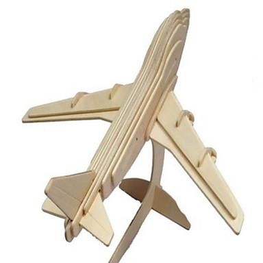 3D - Puzzle Holzpuzzle Holzmodell Spielzeuge Flugzeug Simulation Holz Naturholz keine Angaben Stücke