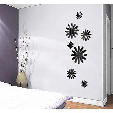 لواصق حائط مزخرفة - ملصقات الحائط على المرآة تجريدي / أشكال / 3D غرفة الجلوس / غرفة الطعام / غرفة دراسة / مكتب / قابل للغسيل