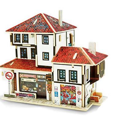 Robotime 3D-puzzels Legpuzzel Houten modellen Modelbouwsets Architectuur 3D DHZ Hout Klassiek Kinderen Volwassenen Unisex Geschenk