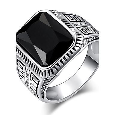 Dames Ring Statement Ring Zwart Rood Groen Hars Kromi Anderen Gepersonaliseerde Luxe Uniek ontwerp Klassiek Vintage Tekojalokivi Bohémien